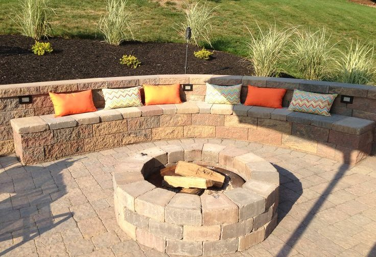 Retaining Wall Patio with Fireplace Victoria BC Landscaping