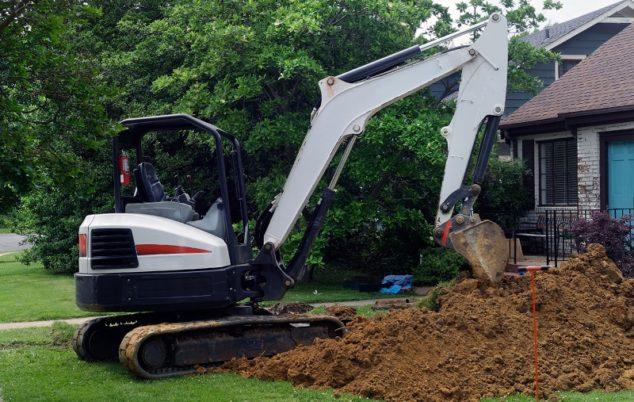 Excavator Victoria BC Landscaping