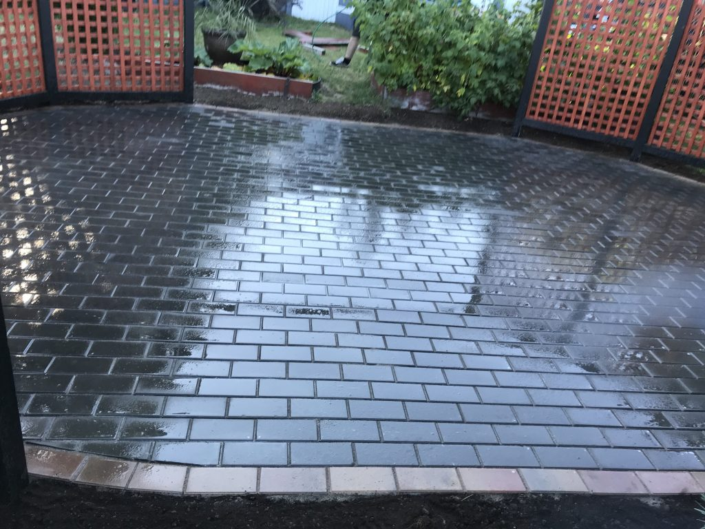Finished Paver Patio Victoria BC
