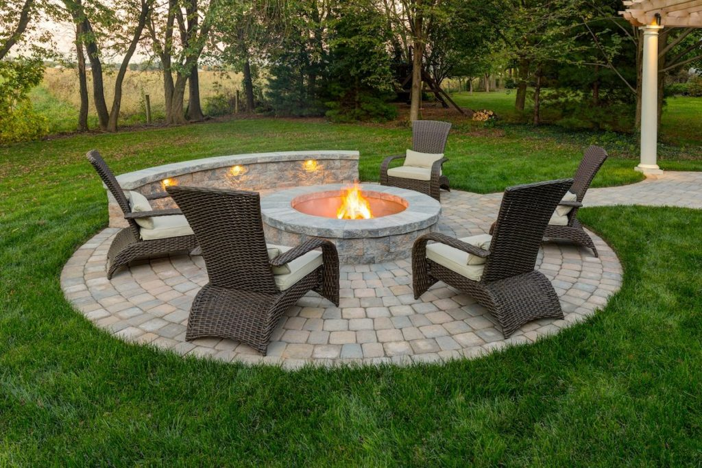 Paver Patio Victoria BC Landscaping Firepit