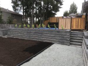 Block Retaining Wall Landscaping Victoria BC