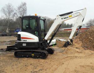 Mini Excavator Landscaping