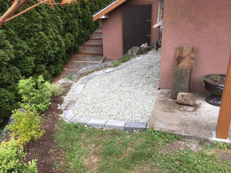 Landscape Gravel Install