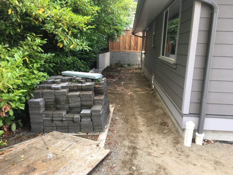 Walkway and Landscaping Excavation