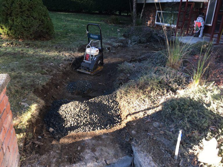 Paver Sidewalk Excavate
