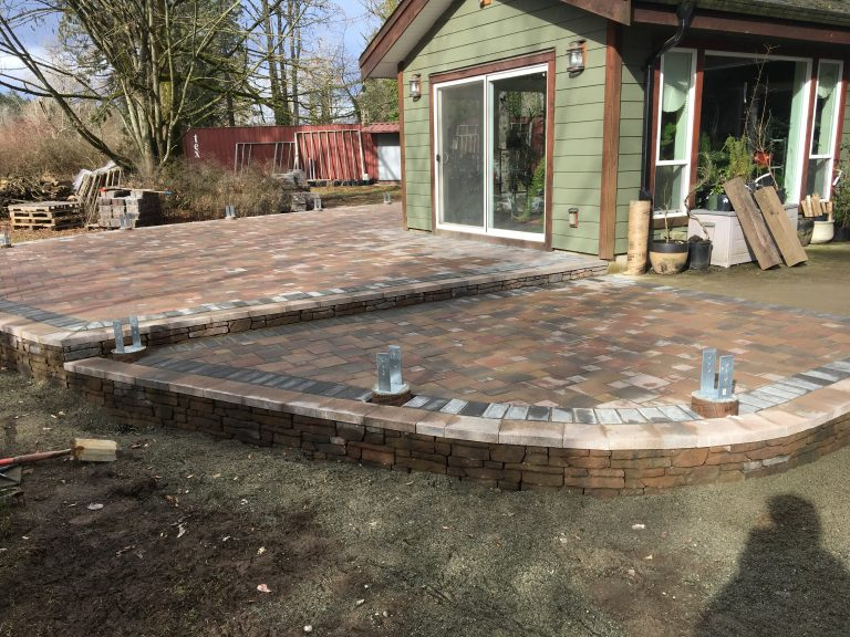 Paver Patio with Wall After 2