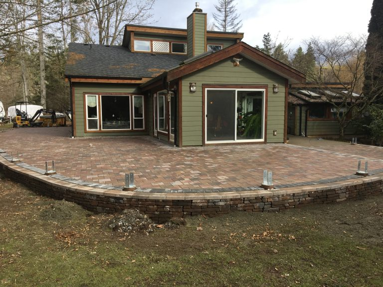 Paver Patio with Wall After 3