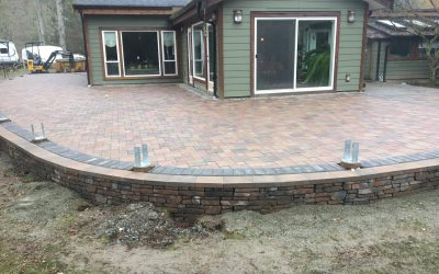 Paver Patio with Wall After 4